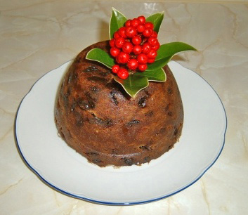 Christmas pudding cooked on Stir-up Sunday, it is traditionally served in the UK, Ireland and in other countries Christmas pudding.JPG