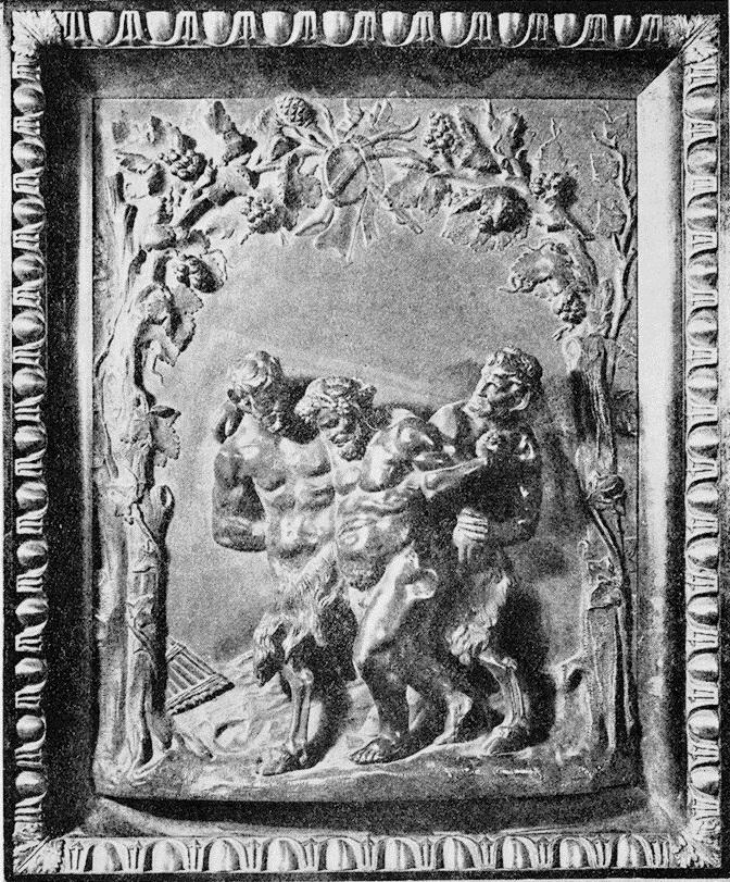 Pijany Bachus z satyrami