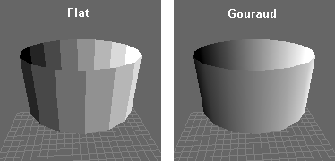 Gouraud vs Flat Shading