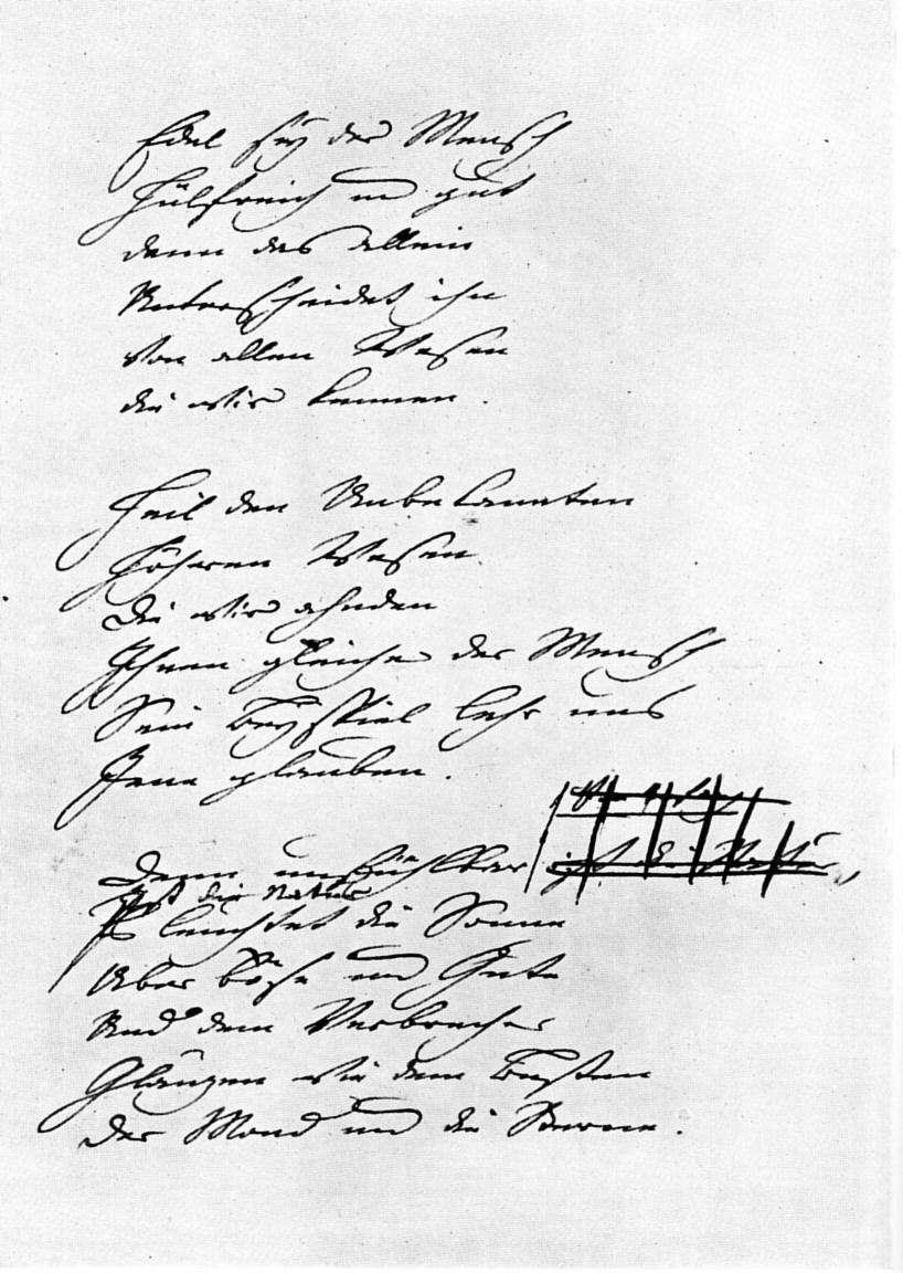 Gedicht goethe das gottliche