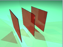 Figuur 0 – Projectiemodel van de atoomvlakken in het kristal