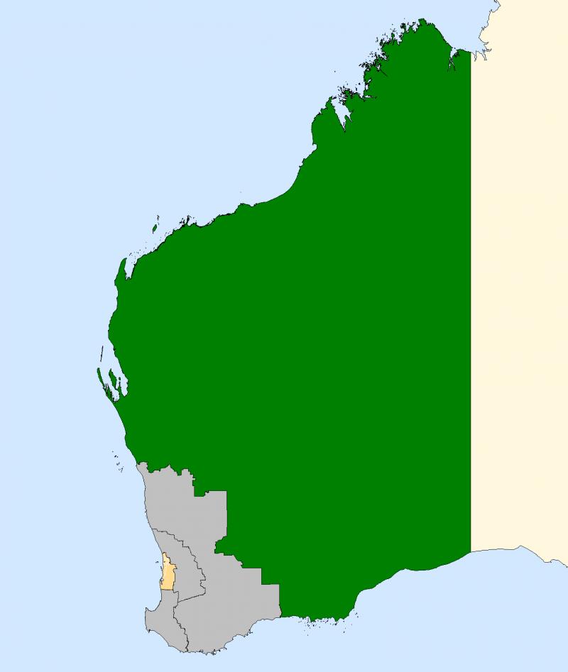 Australia Map Kalgoorlie.Division Of Kalgoorlie Wikipedia