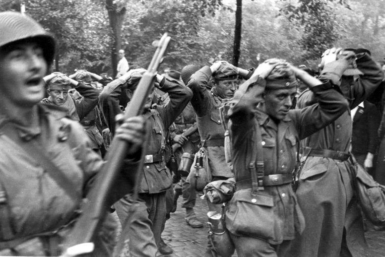 american and german soldiers meet babies