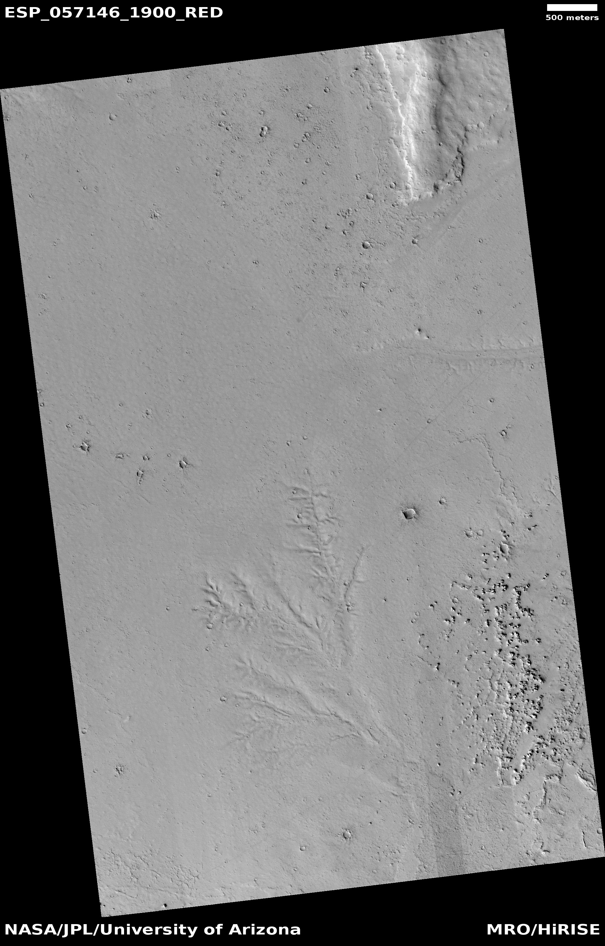 Channel network, as seen by HiRISE under HiWish program