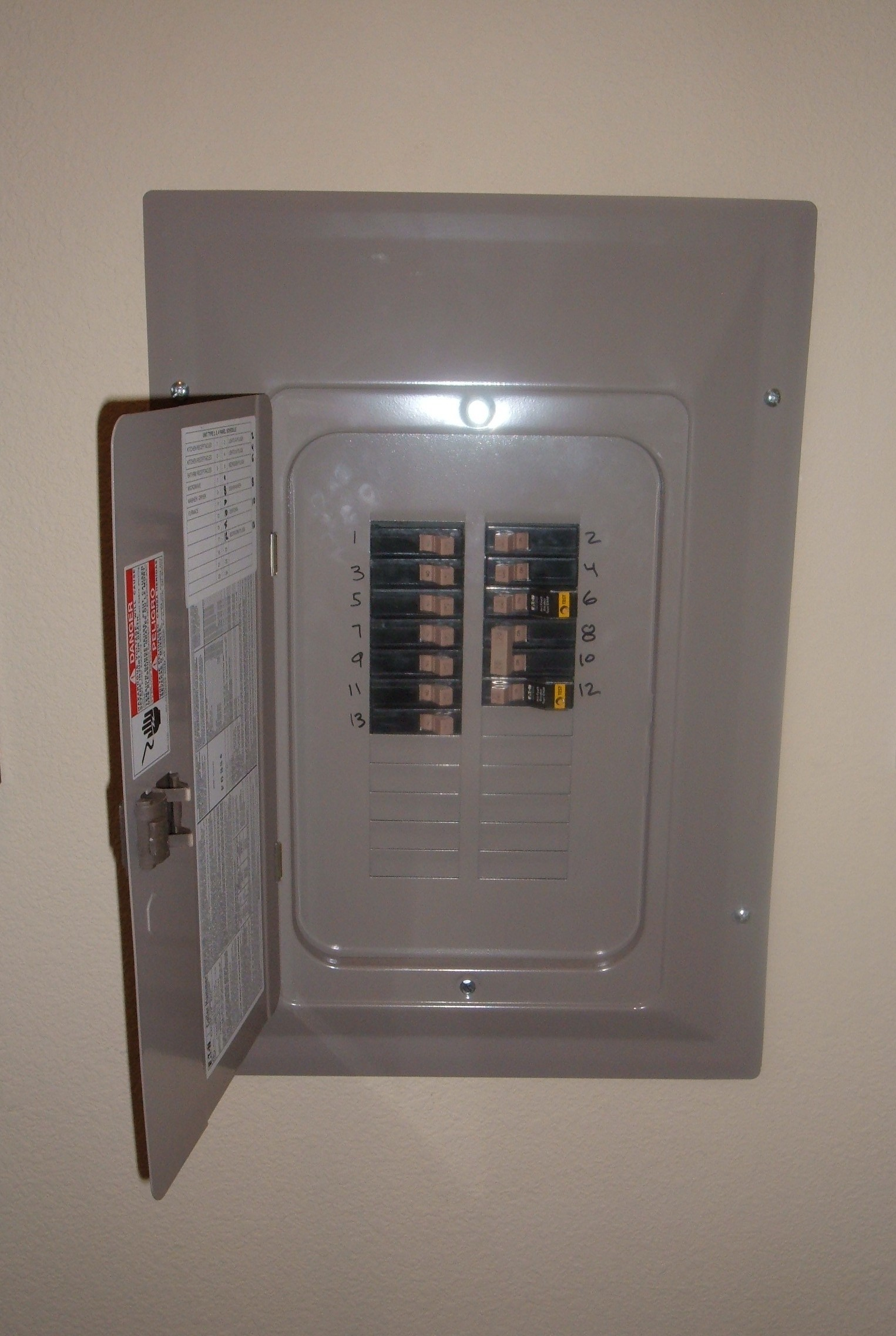 File:Eaton circuit breaker panel open.JPG