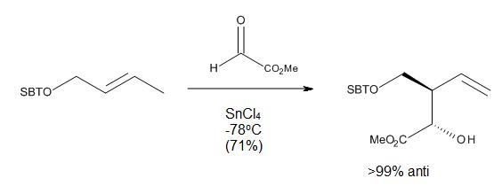 Figure 10. Lewis acid catalyzed, directed carbonyl-ene reaction.
