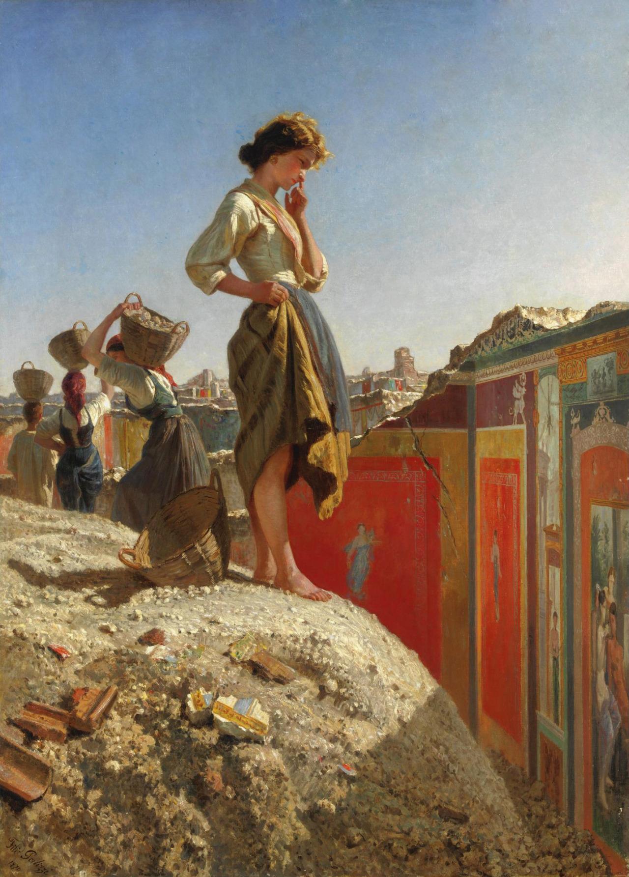 File:Filippo Palizzi - Fanciulla negli scavi di Pompei (parete ...