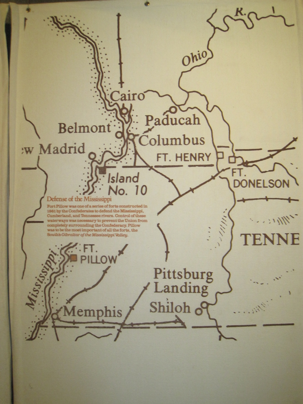 State Parks Tennessee Map.File Fort Pillow State Park Tn 09 Museum Map Defense Of The
