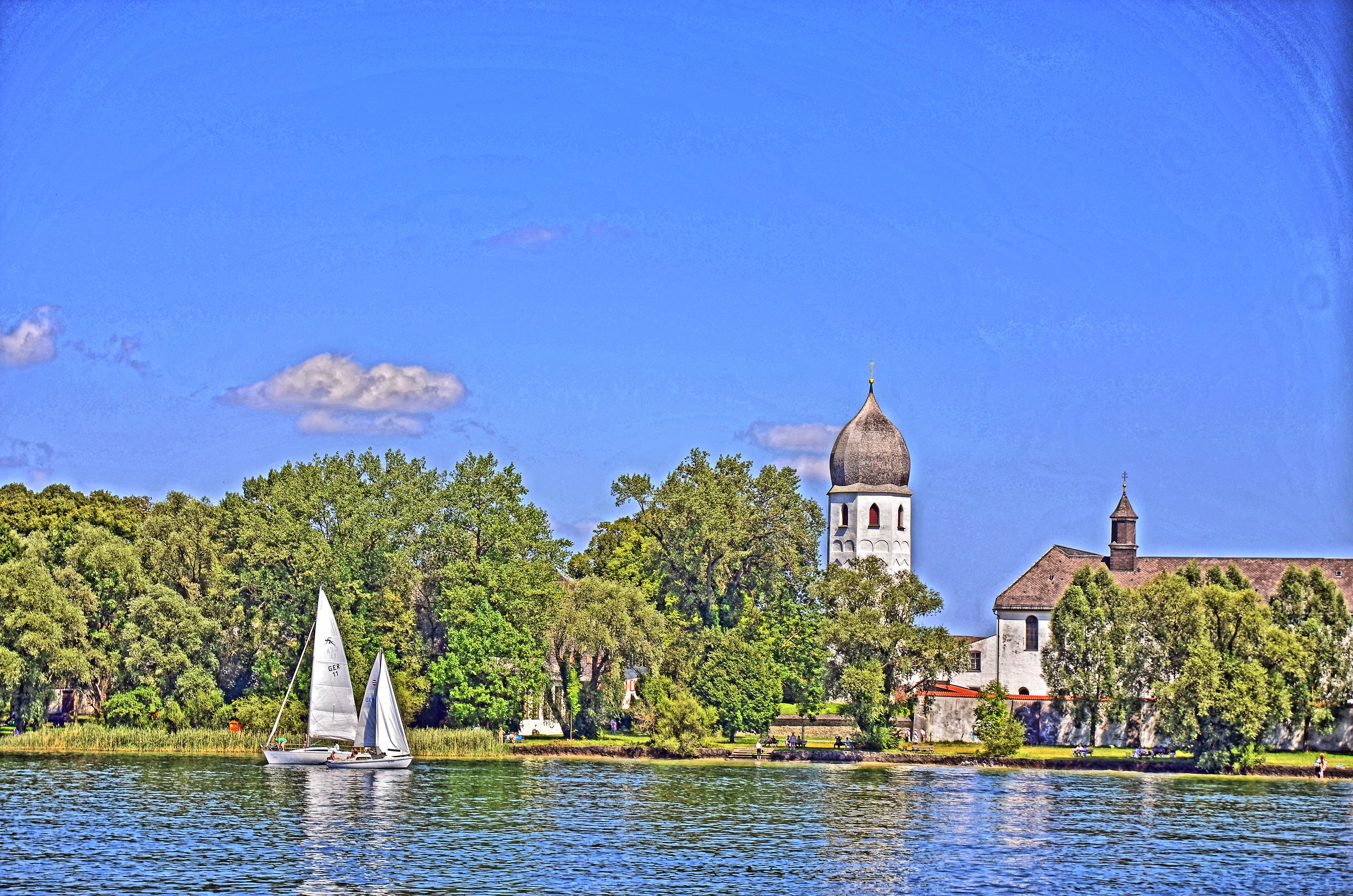 file fraueninsel chiemsee tone mapping wikimedia commons. Black Bedroom Furniture Sets. Home Design Ideas