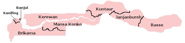 Pembagian wilayah administratif Gambia