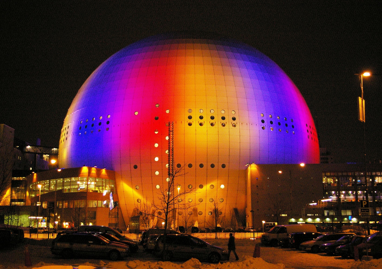 Depiction of Globen Arena