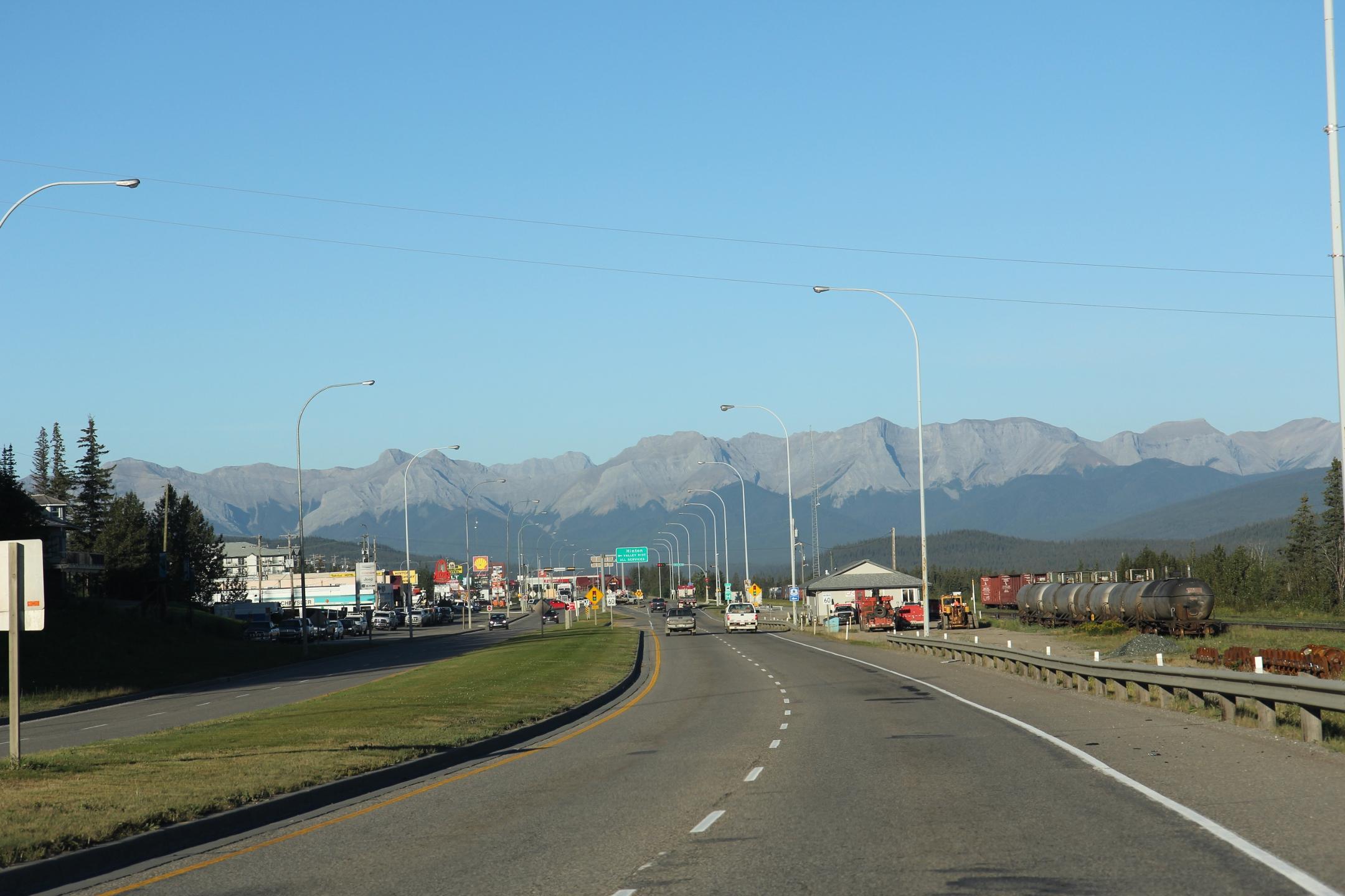 FileHinton Alberta looking west TransCanada highwayjpg