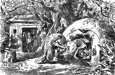 Illustration of Hansel and Gretel by Theodre Hosemann