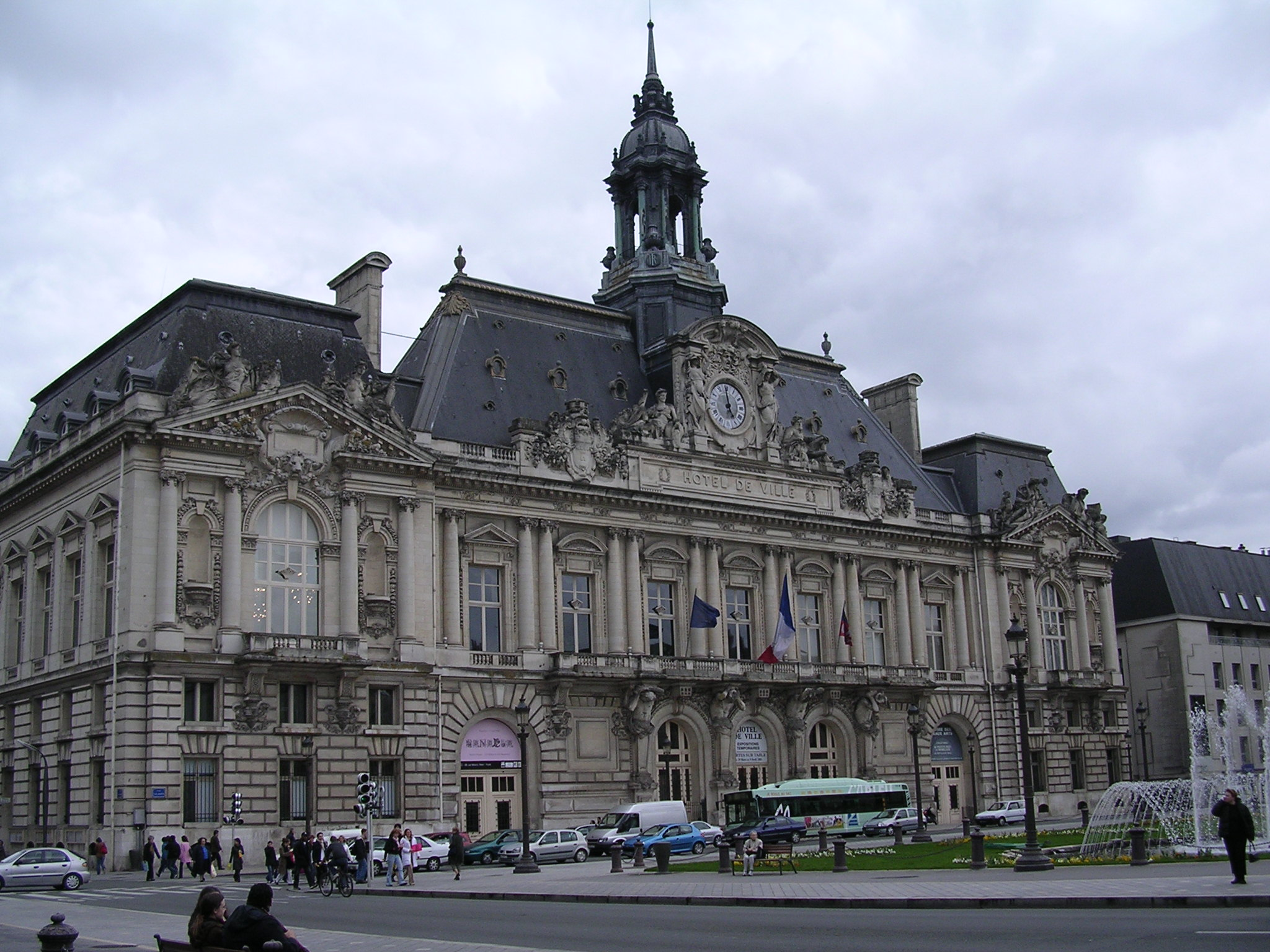 File hotel de ville wikimedia commons for Hotels tours
