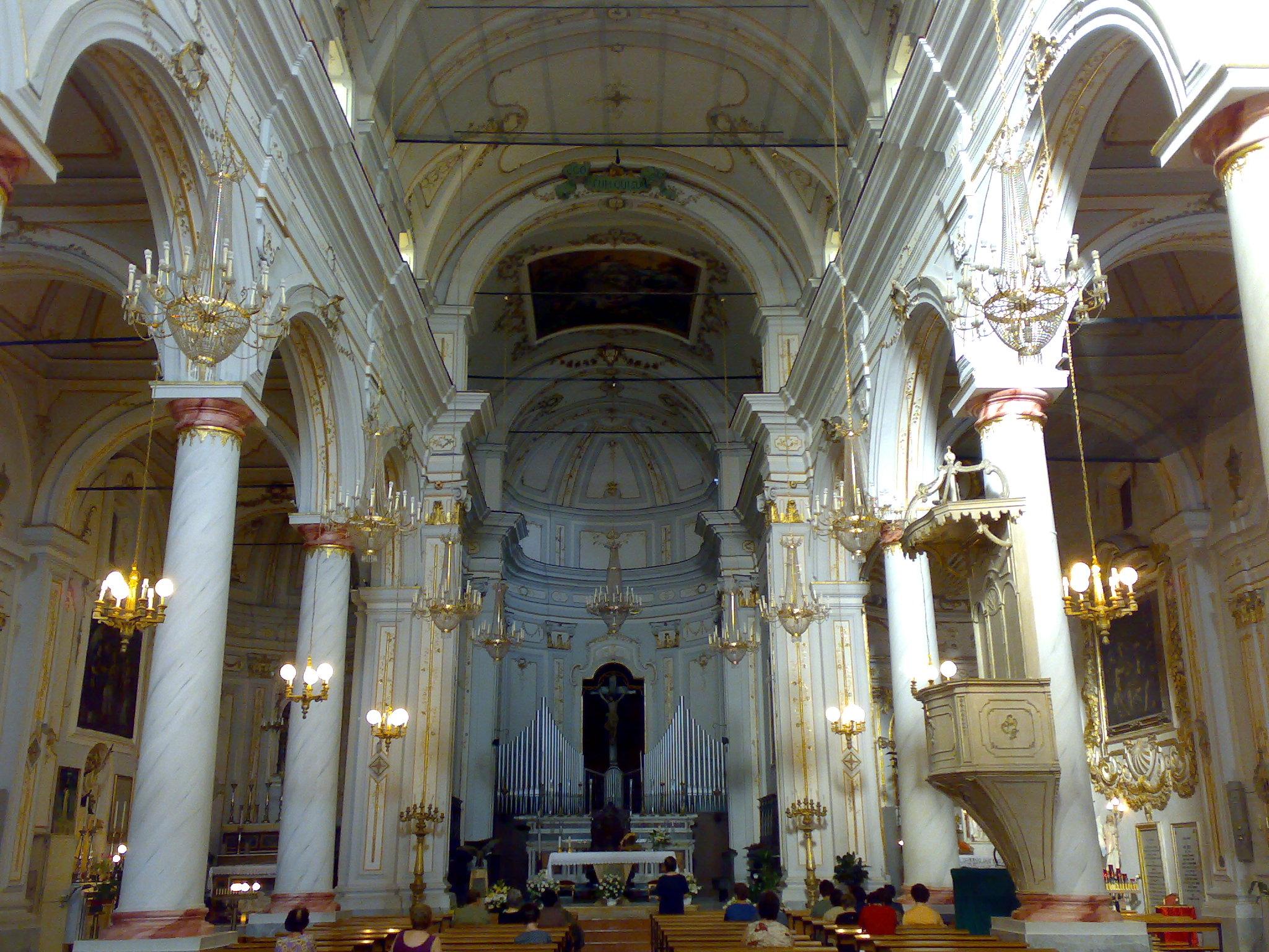 Santo Stefano Quisquina Italy  city photo : Descrizione Interno Chiesa Madre S.Stefano Quisquina