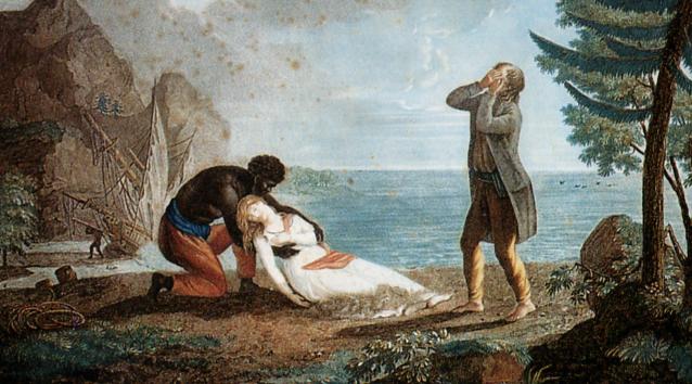 Смерть Виржини. Гравюра Леграна по картине М.Ламбера. Конец XVIIIв.