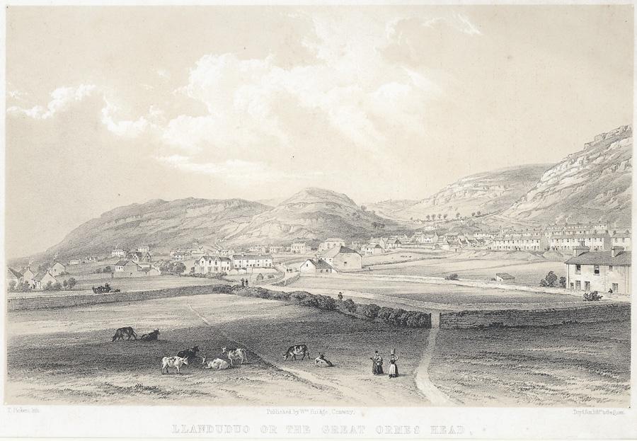 Llanduduo i.e Llandudno or the Great Ormes Head, from Pwll y Gwichiaid