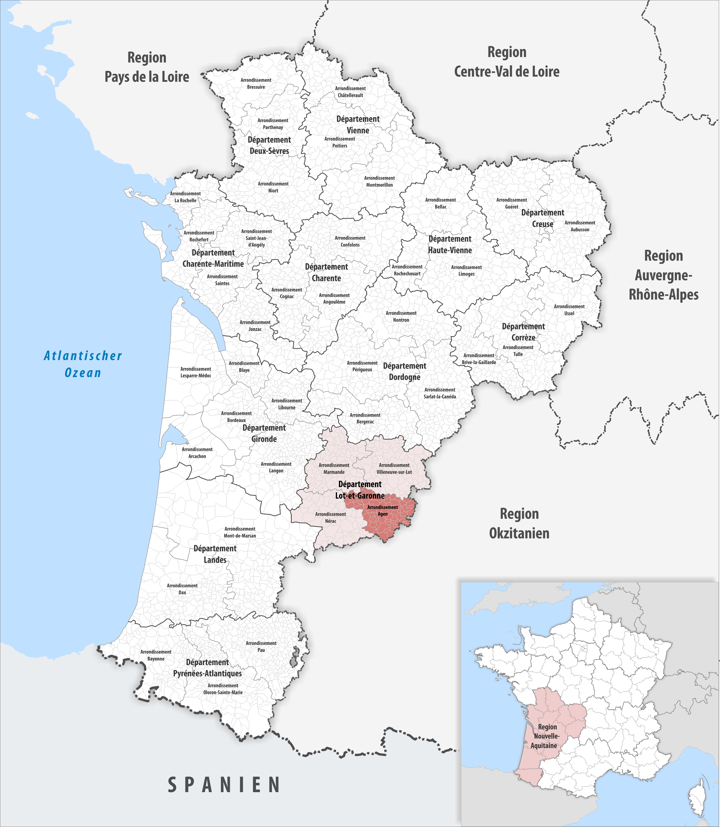 File:Locator map of Arrondissement Agen 2019.png