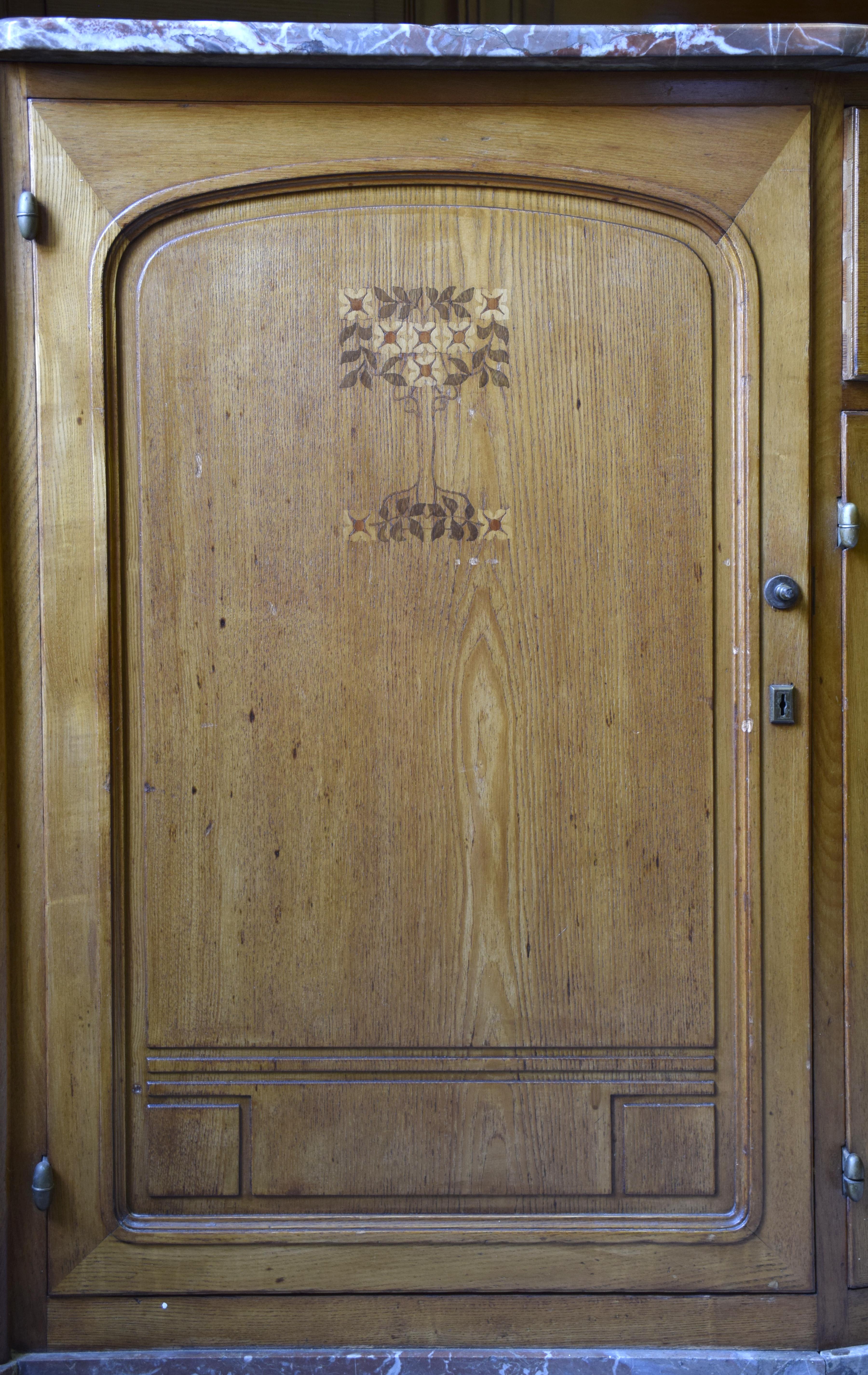 File Maison Leon Losseau Cuisine Porte De Meuble Avec Motif