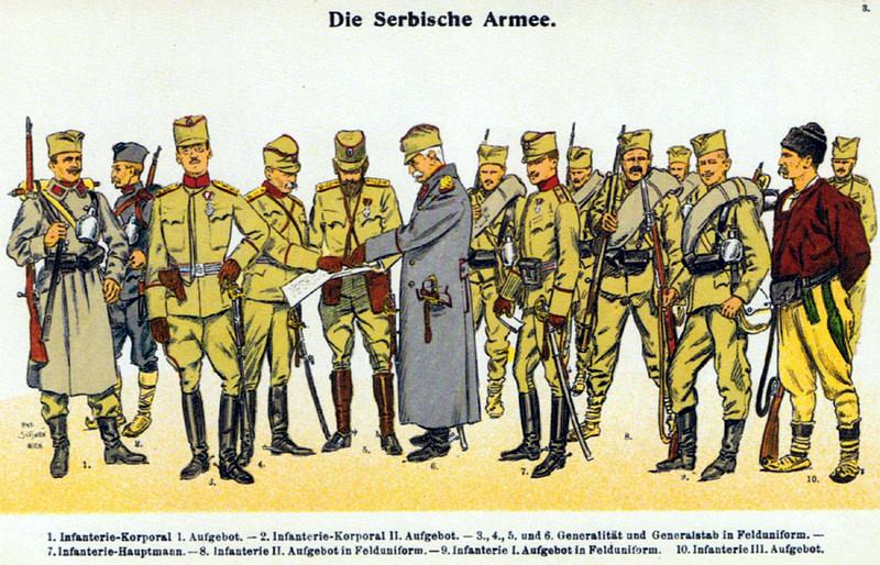 [✓] Royaume de Serbie Moritz_Ruhl_-_Serbische_Armee_1914_-_Felduniformen