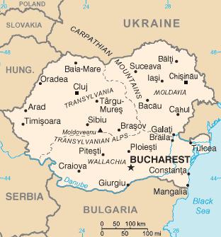 Karte: Rumänien und Moldawien in einem Staat vereinigt