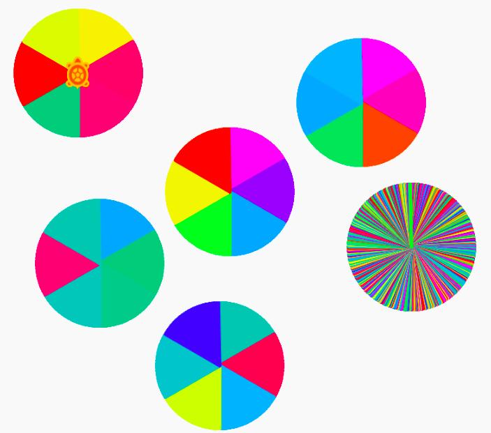 multi-rainbow disks