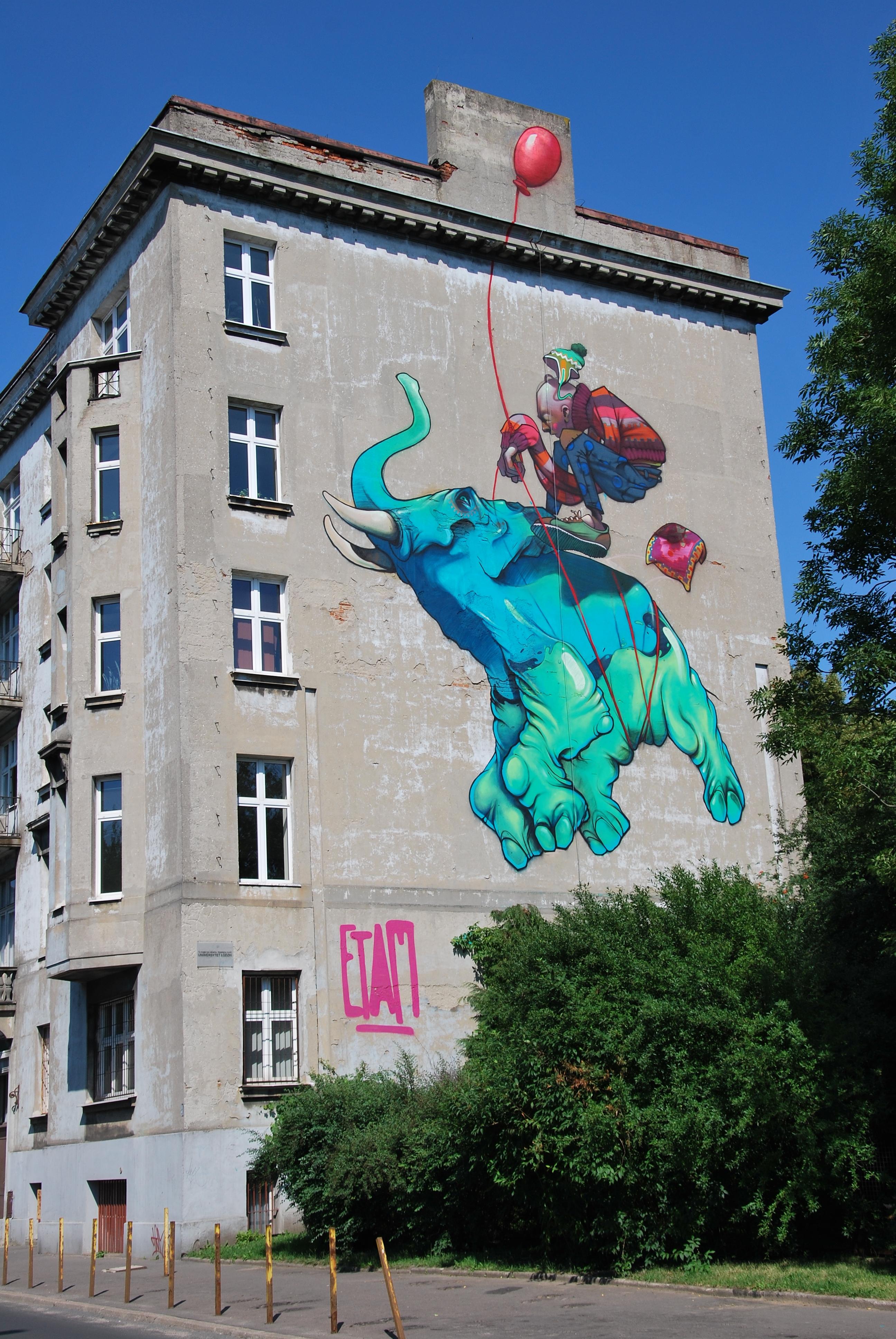 File Mural Lodz Uniwersytecka Street 3 Jpg Wikimedia Commons
