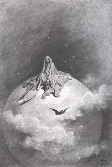 The Raven by Poe: an example of dark romanticism art