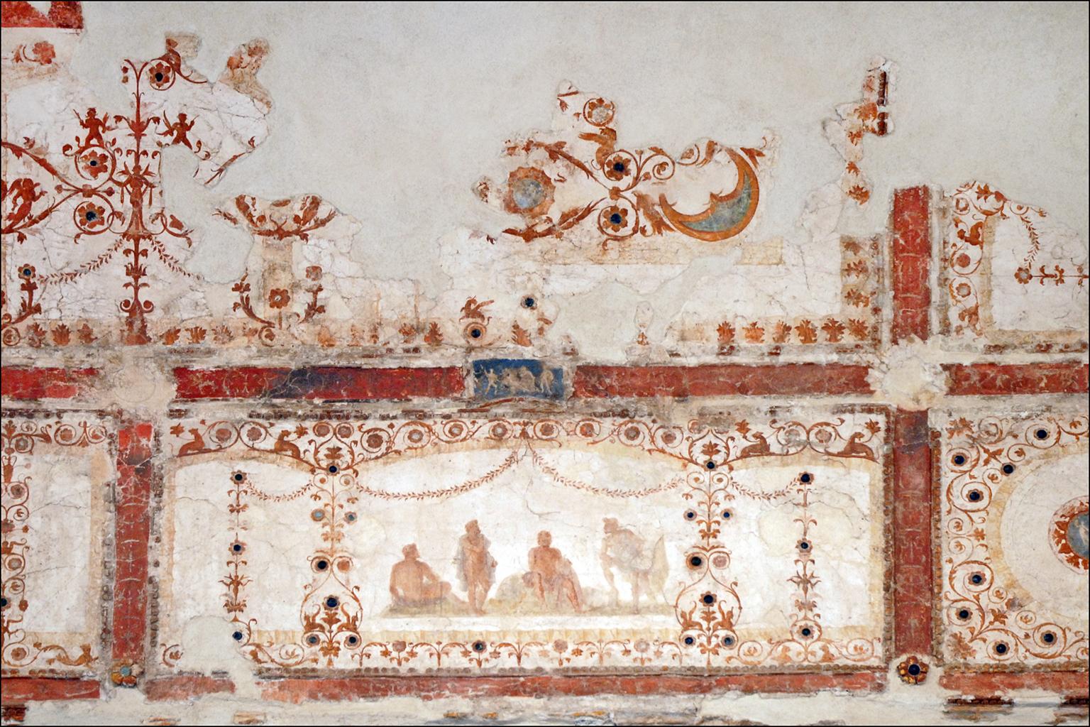 file peintures murales de la domus transitoria rome 5979997231 jpg wikimedia commons. Black Bedroom Furniture Sets. Home Design Ideas