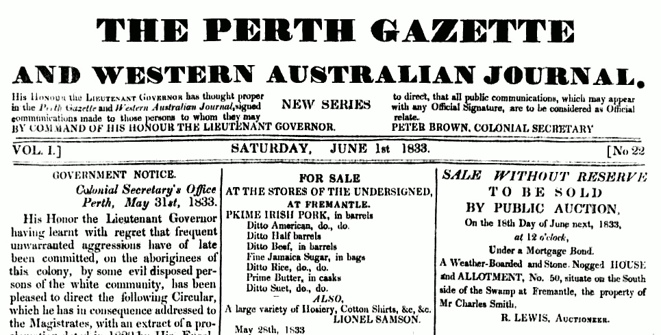 esorts the newspaper Western Australia