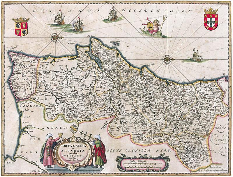 FilePortugallia Et Algarbiajpg Wikimedia Commons - Portugal historical map