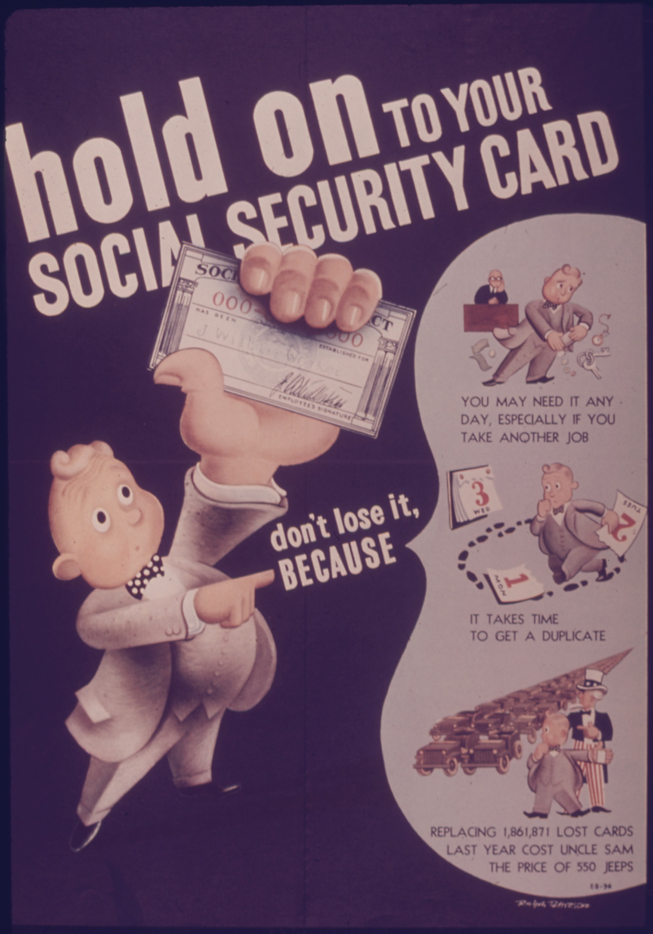 fileposter quothold on to your social security cardquot nara