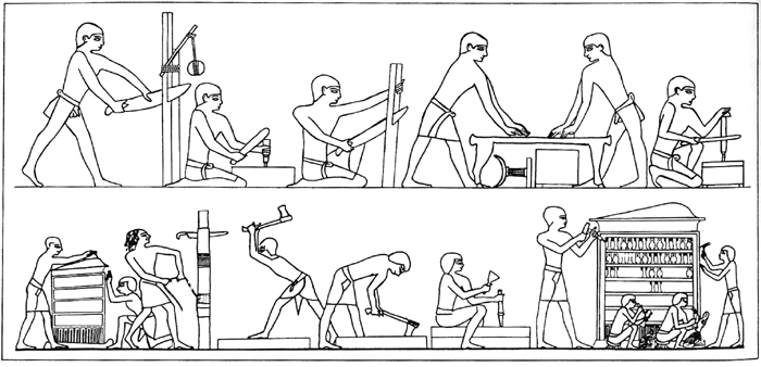 egyptian furniture coloring pages - photo#11