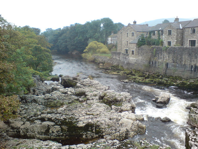 River Wharfe at Linton Falls - geograph.org.uk - 399421
