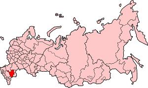 Республика Калмыкия на карте России