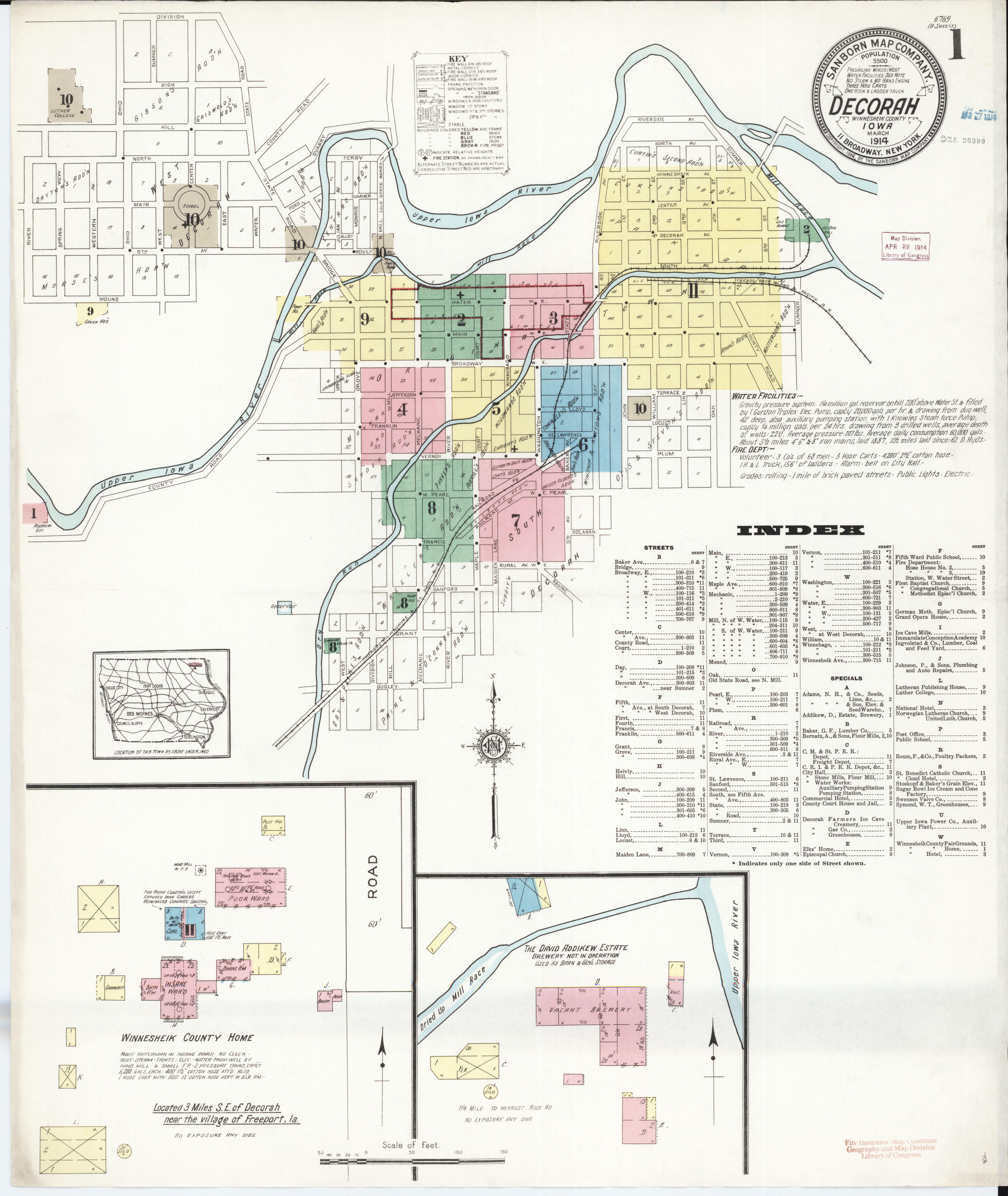 File:Sanborn Fire Insurance Map from Decorah, Winneshiek