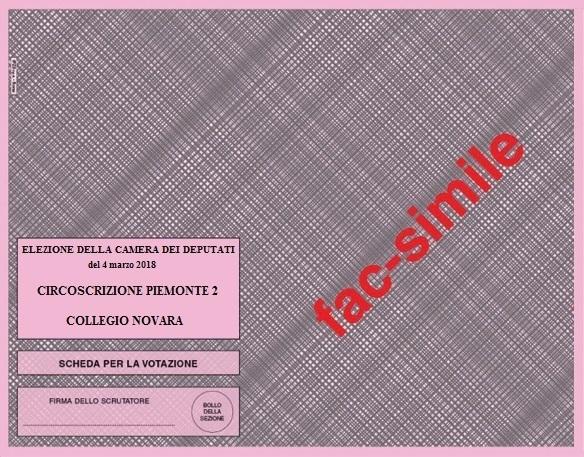 Collegio elettorale uninominale piemonte 2 02 camera for Elezione camera dei deputati