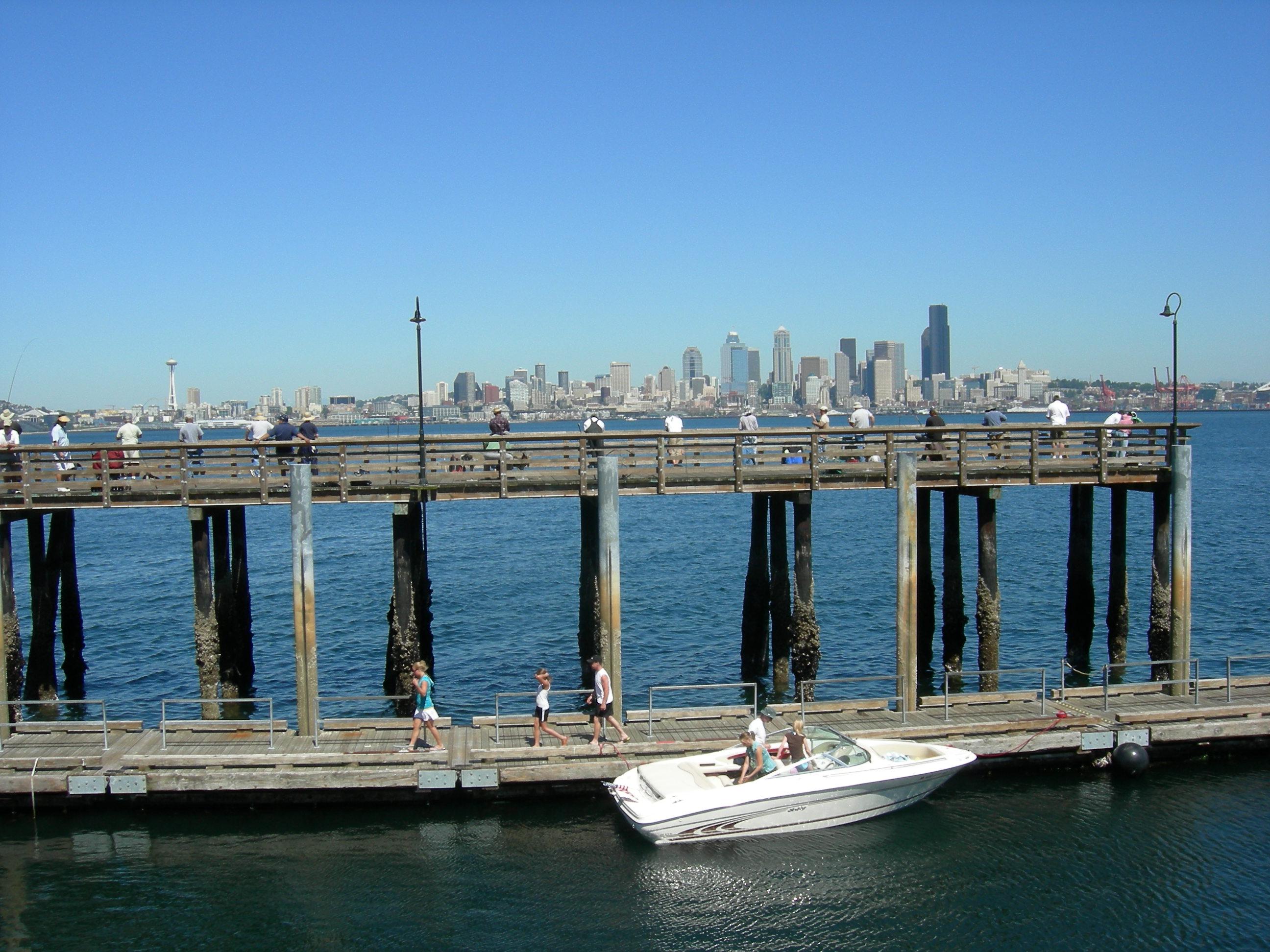 File seacrest park fishing pier wikimedia for Seattle fishing pier