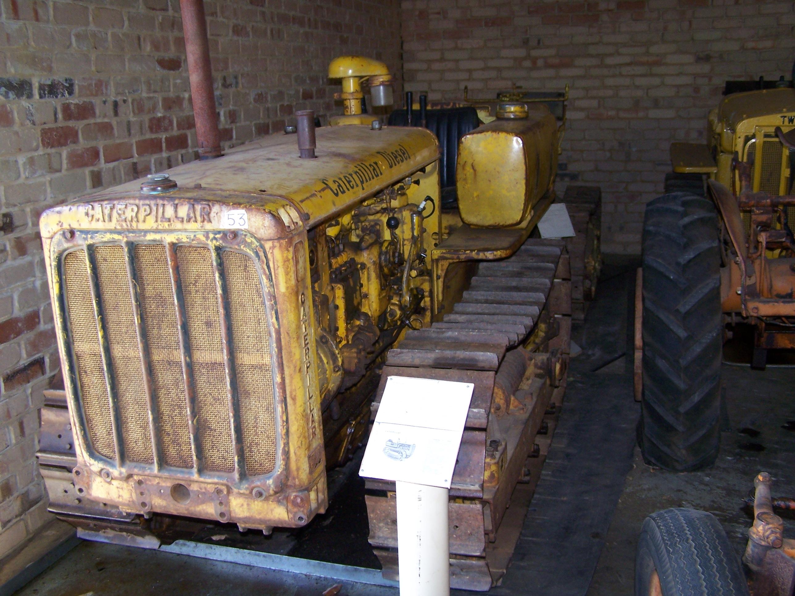 Caterpillar D2 on display in the Serpentine Vintage Tractor Museum, Serpentine, Western Australia