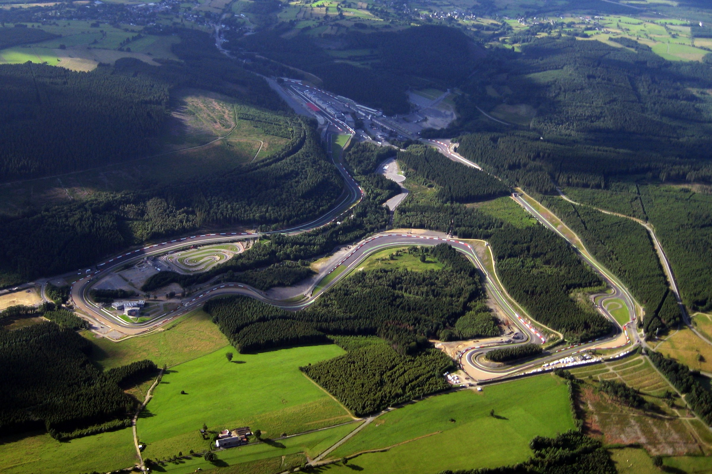 An overview of the dashing Spa-Francorchamps circuit