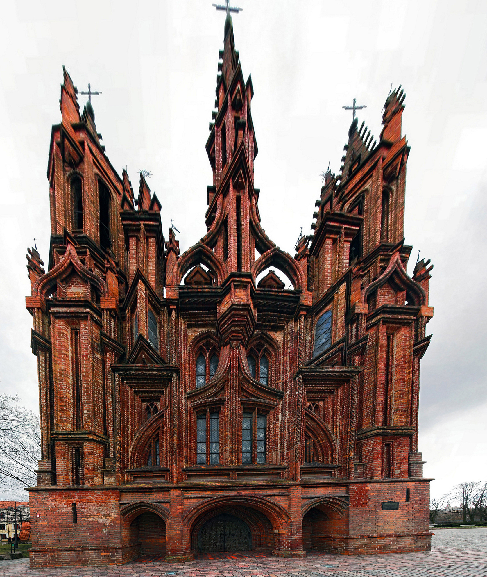 Best Comedy Movie Quotes Of All Time: St. Anne's Church In Vilnius, Lithuania. A Prominent