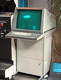 The Tektronix 4014 uses a storage tube for its display.