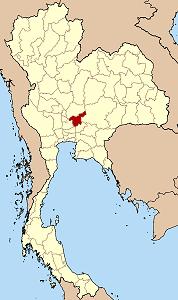 サラブリー県の位置