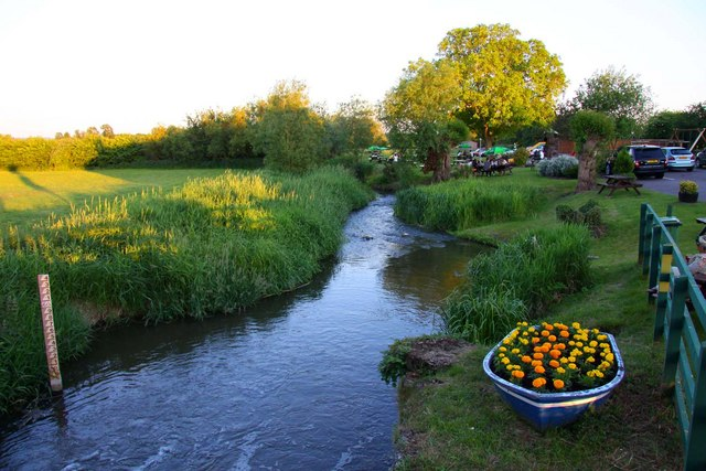 The River Thame at The Old Fisherman in Shabbington - geograph.org.uk - 1332615