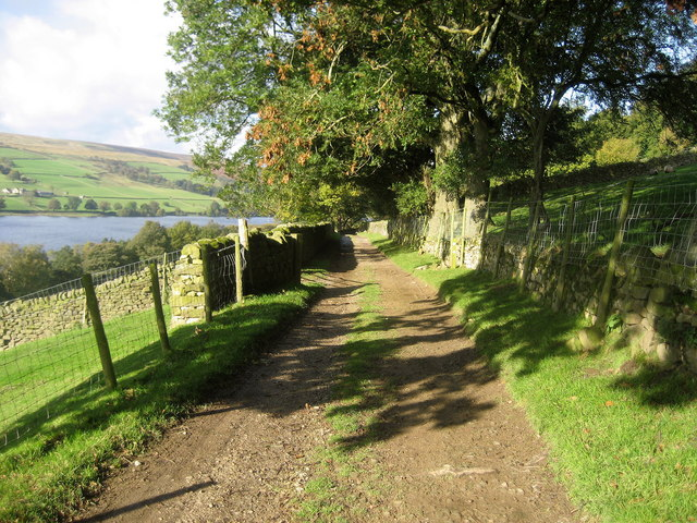 Track by Gouthwaite Reservoir - geograph.org.uk - 1024733