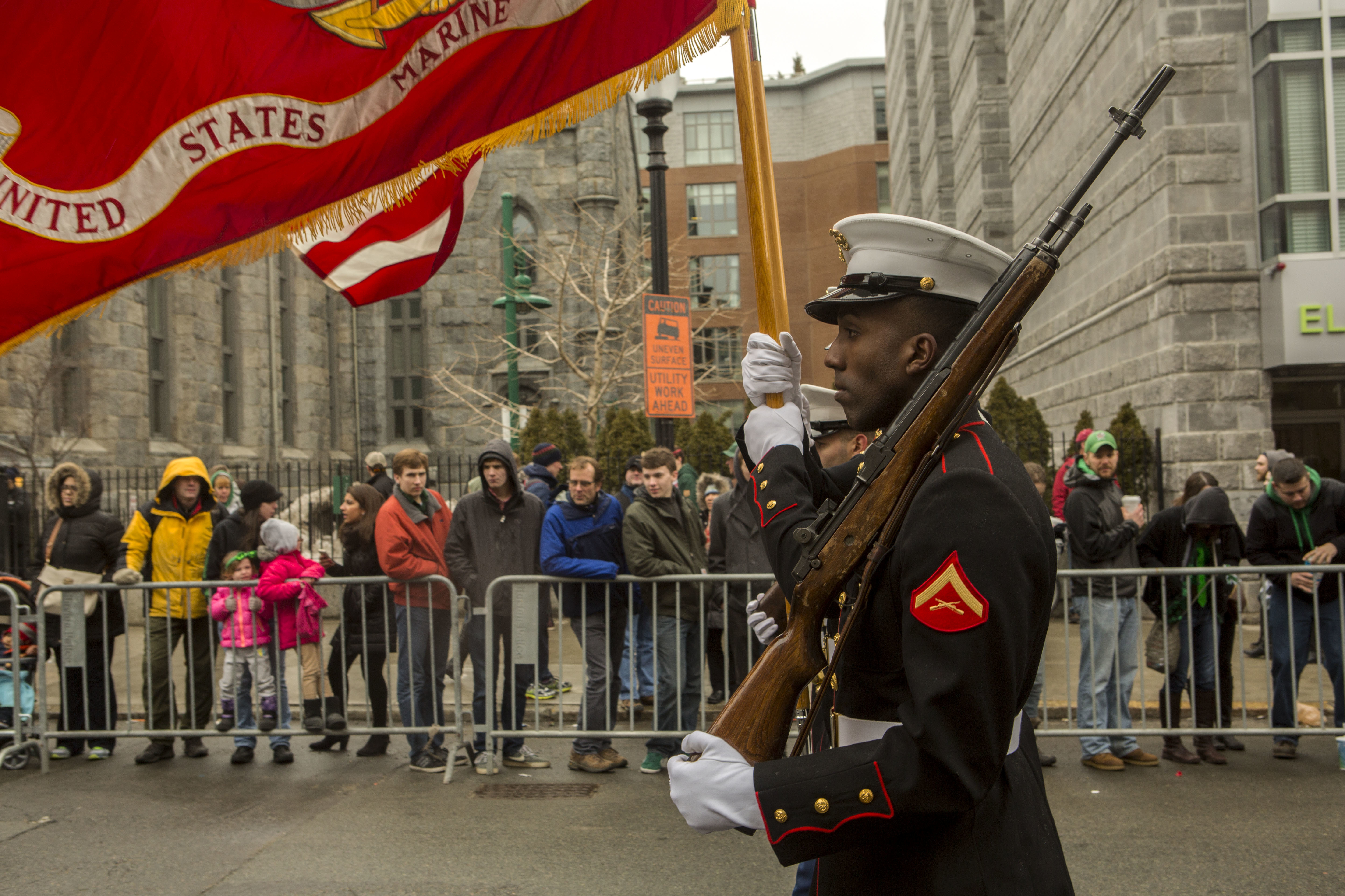 File:U S  Marines march in the South Boston Allied War