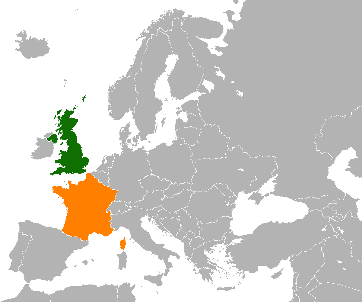 United Kingdom On The World Map.France United Kingdom Relations Wikipedia