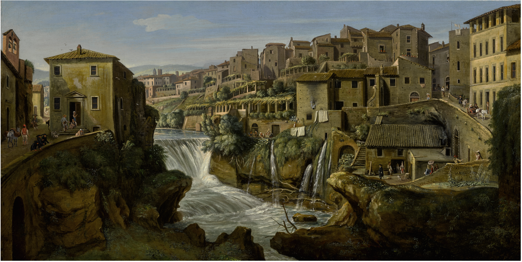 VIEW OF TIVOLI WITH THE OLD WATERFALL AND LEFT BANK OF THE RIVER ANIENE.png