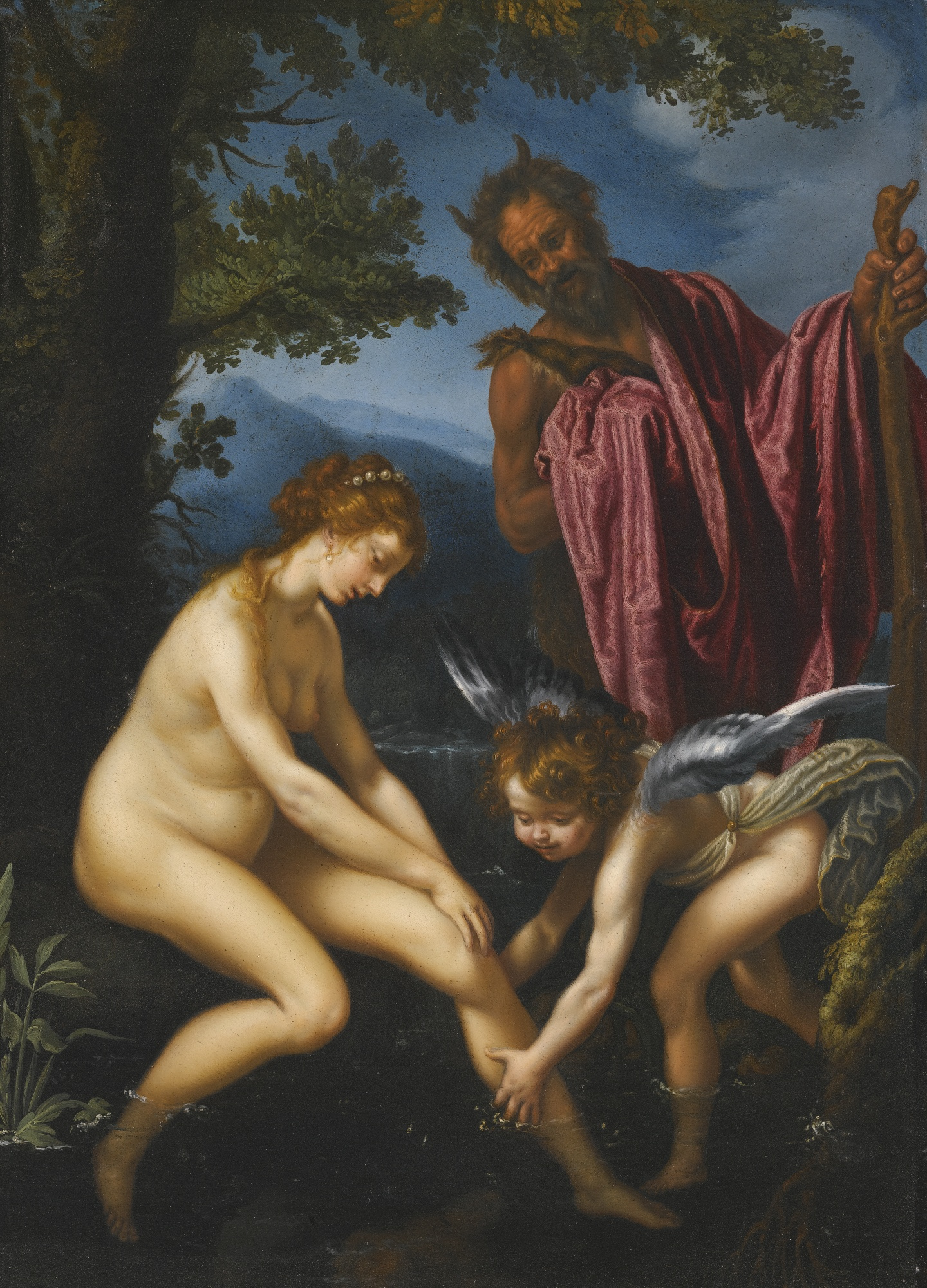 https://upload.wikimedia.org/wikipedia/commons/6/62/Venus%2C_Cupid_and_Pan%2C_oil_on_copper_painting_by_Giovanni_Bilivert.jpg