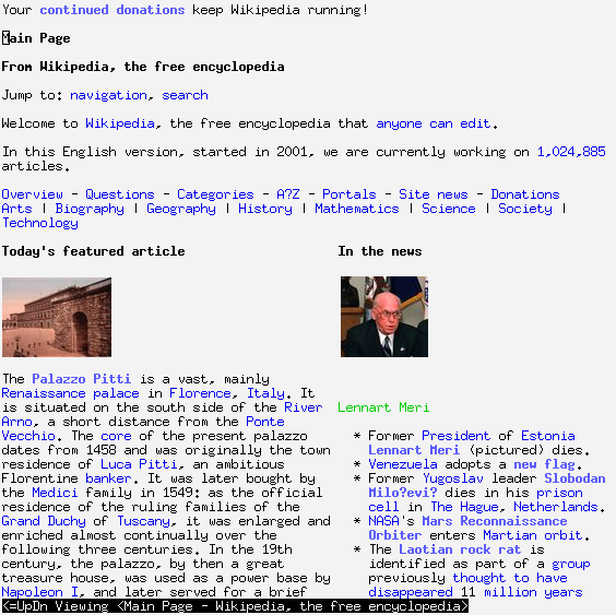 Screenshot w3m - Wikimedia